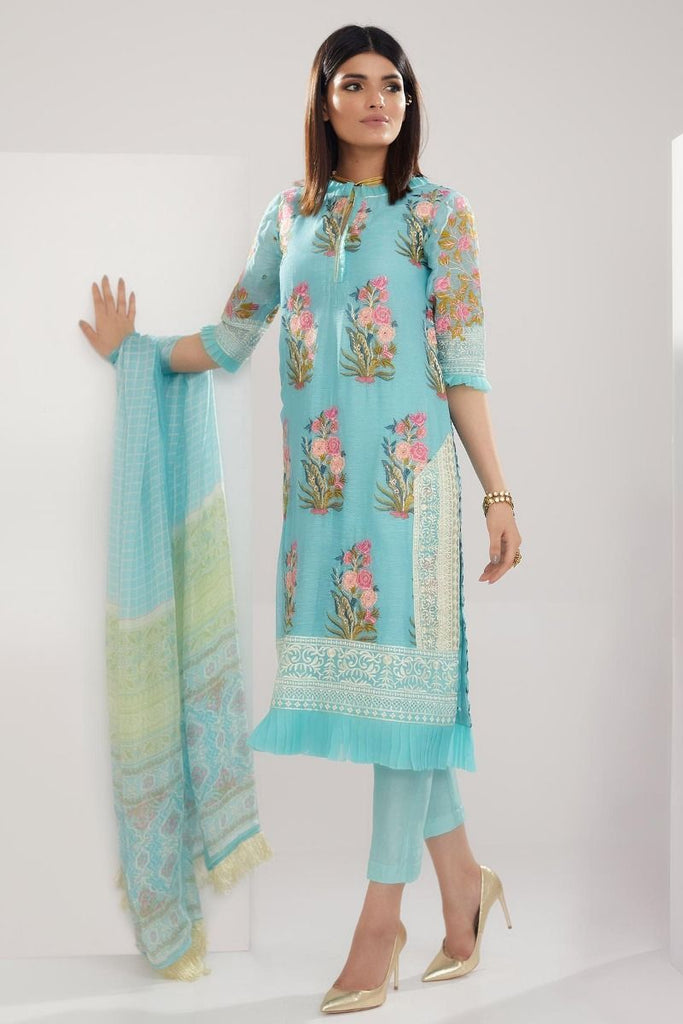 Khaadi Luxury Collection 2018 – LCC18203 Green