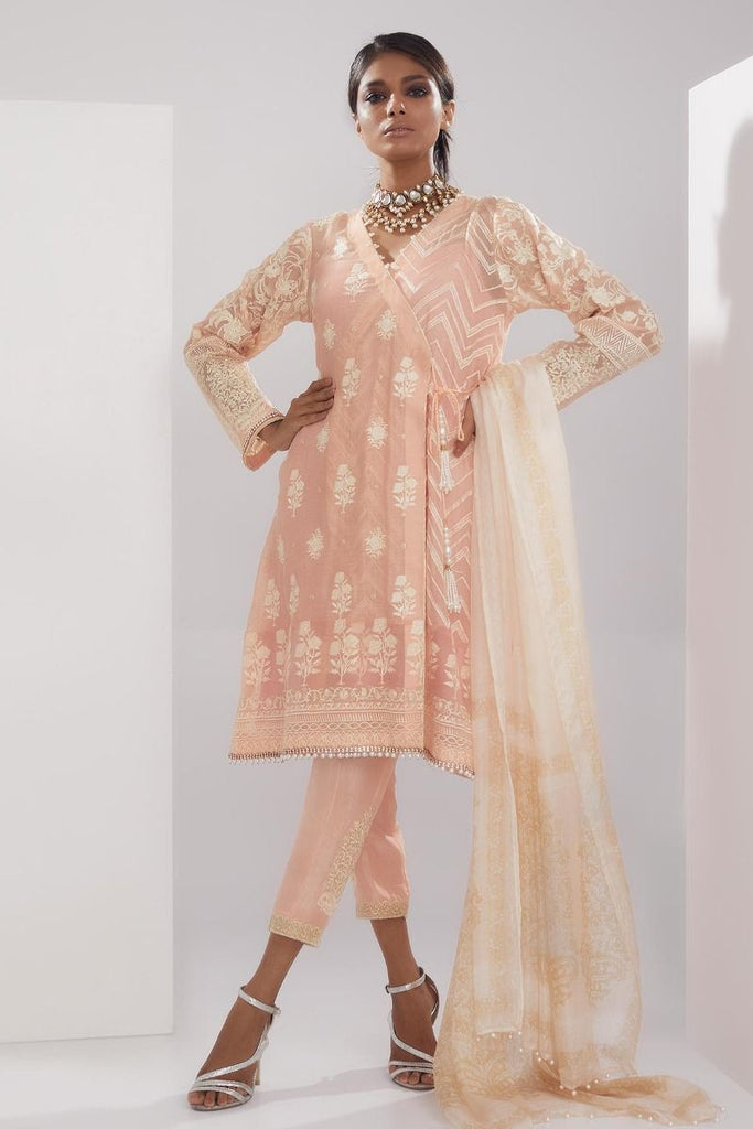 Khaadi Luxury Collection 2018 – LCC18205 Pink