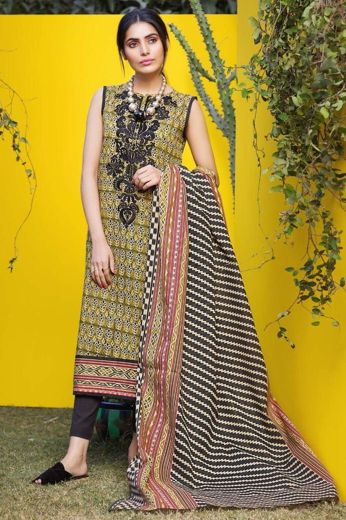 Khaadi Tropical Escape Lawn Collection 2018 – M18107 Green 2Pc
