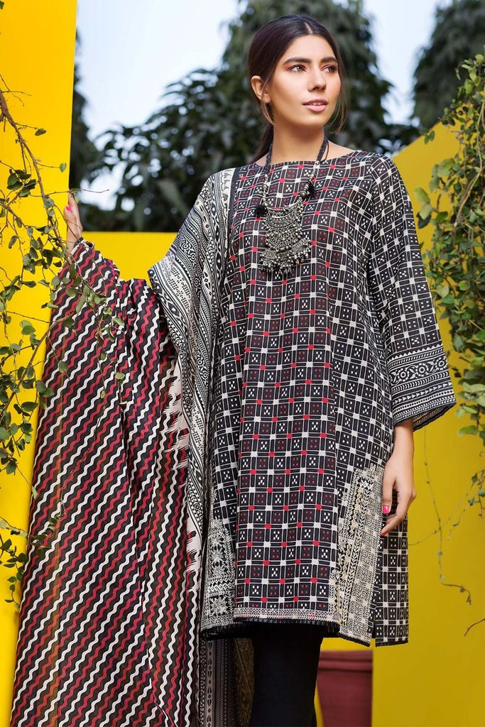 Khaadi Tropical Escape Lawn Collection 2018 – M18108 Black 2Pc
