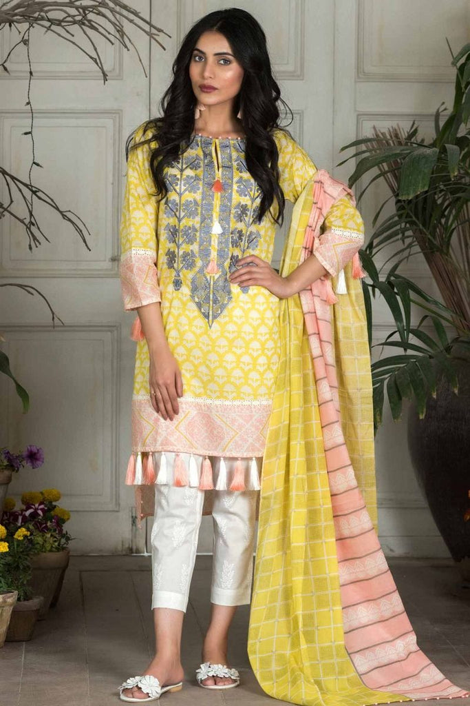 Khaadi Summer Lawn Collection 2018 Vol-2 – M18202 Yellow