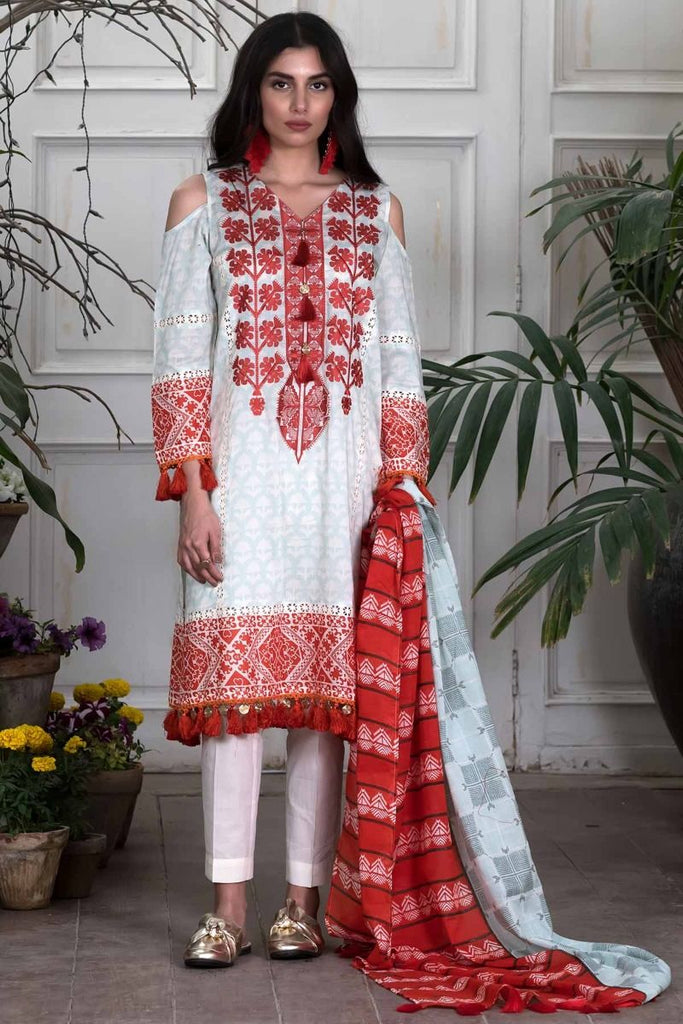 Khaadi Summer Lawn Collection 2018 Vol-2 – M18202 Blue
