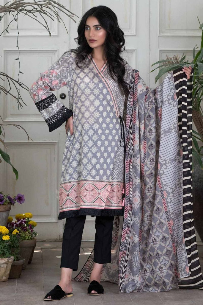 Khaadi Summer Lawn Collection 2018 Vol-2 – M18203 Grey