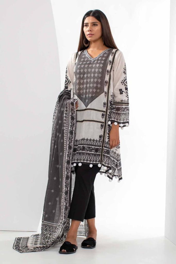 Khaadi Mid Summer Lawn Collection 2018 – M18301 White 2Pc