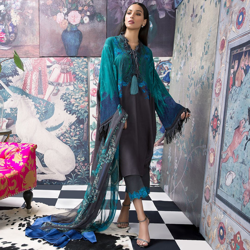 Sana Safinaz Muzlin Winter Collection 2018 – 13B