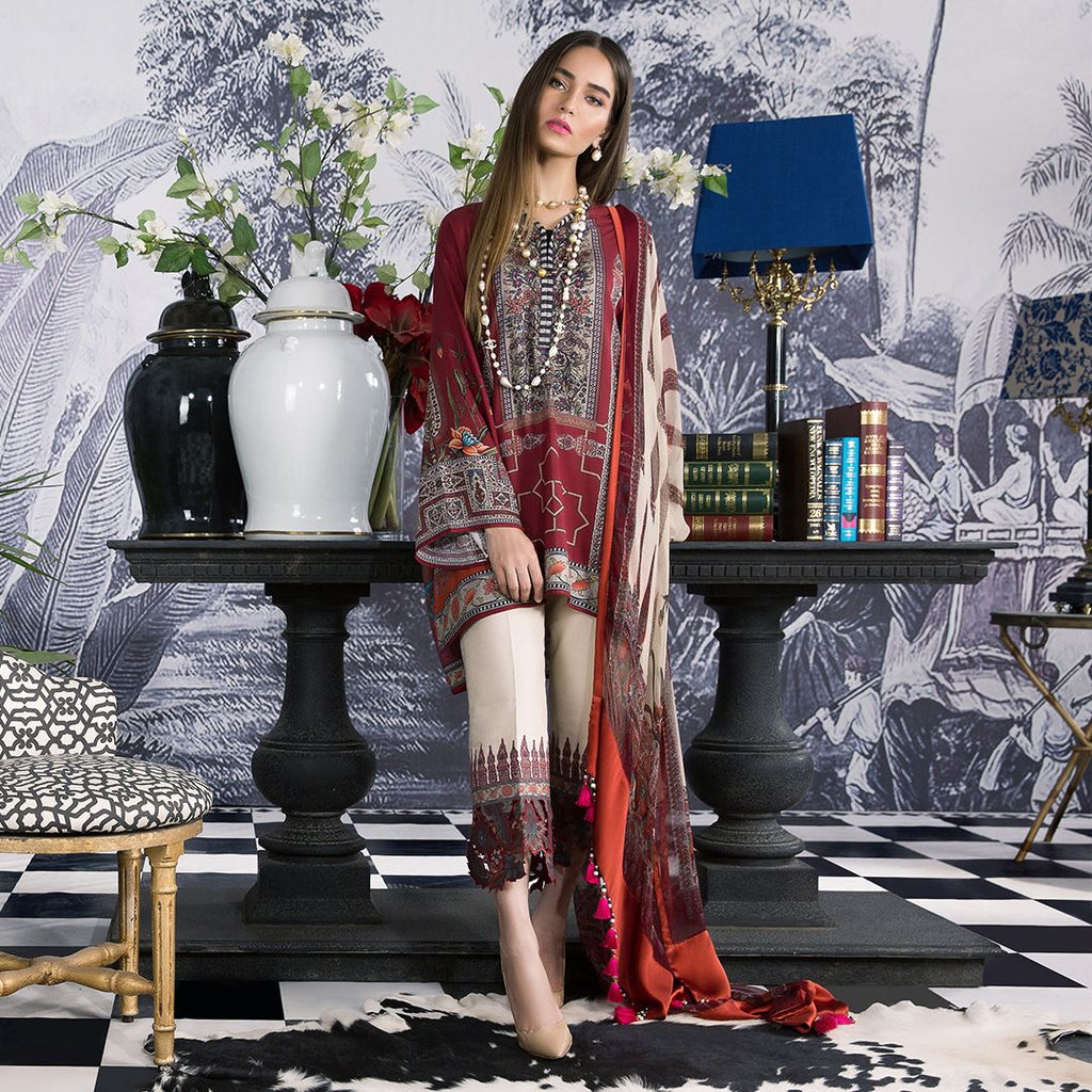 Sana Safinaz Muzlin Winter Collection 2018 – 9B