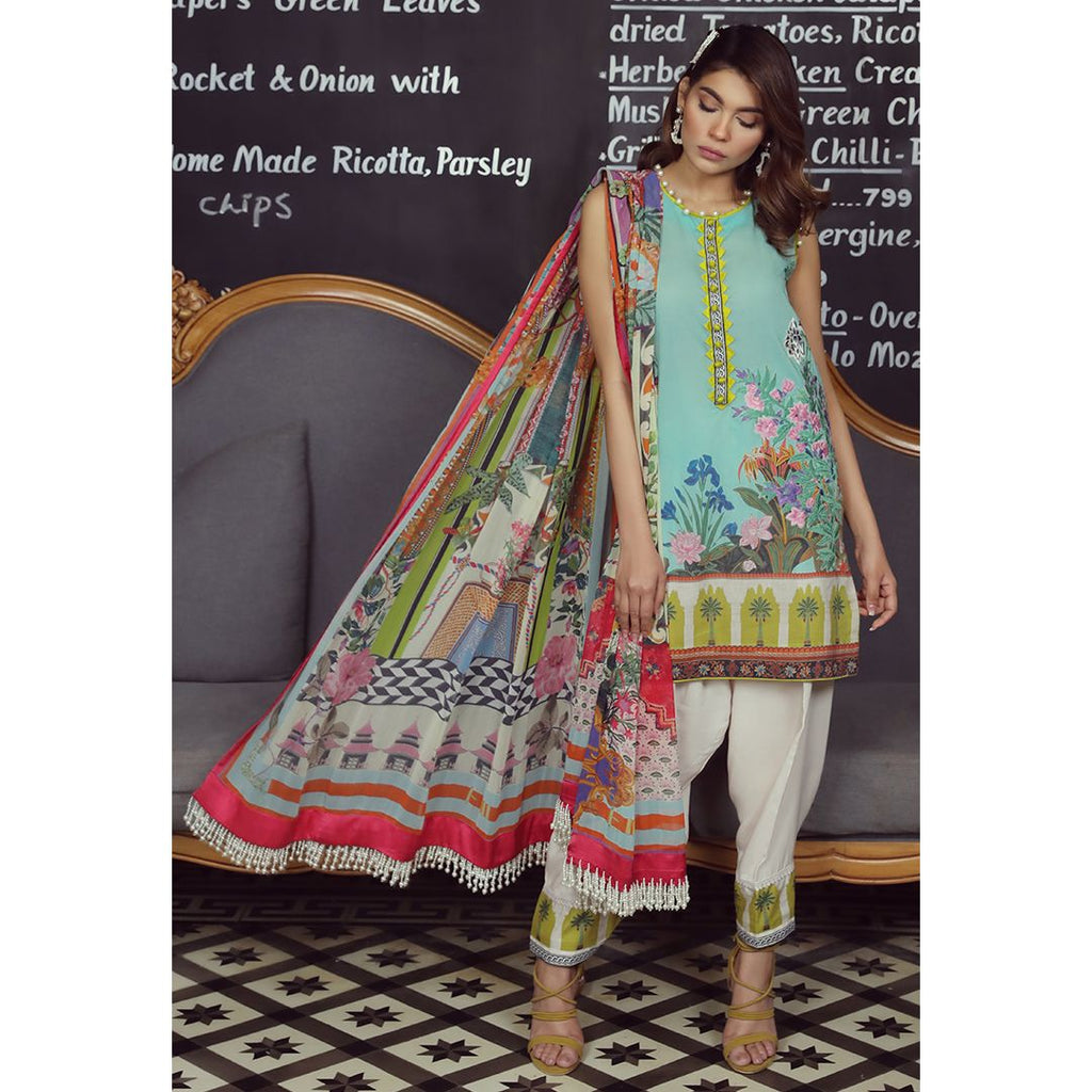 Sana Safinaz Muzlin Lawn Collection 2019 – 16B - Mughalnama