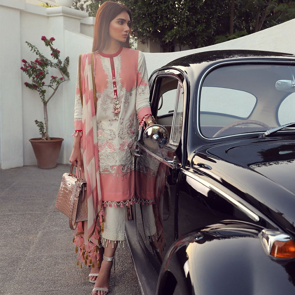 Sana Safinaz Muzlin Lawn Collection 2019 – 06B - Dusty Rouge