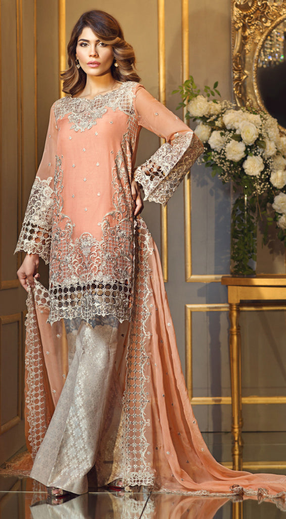 Anaya Festive Chiffon Collection 2017 – Misty Coral