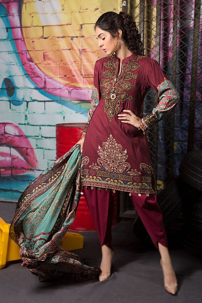 MARIA.B M.Prints Collection – MPT-06-B-Maroon