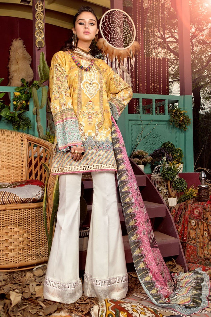MARIA.B. MPrints Lawn Collection 2018 – MPT 201 A Mustard