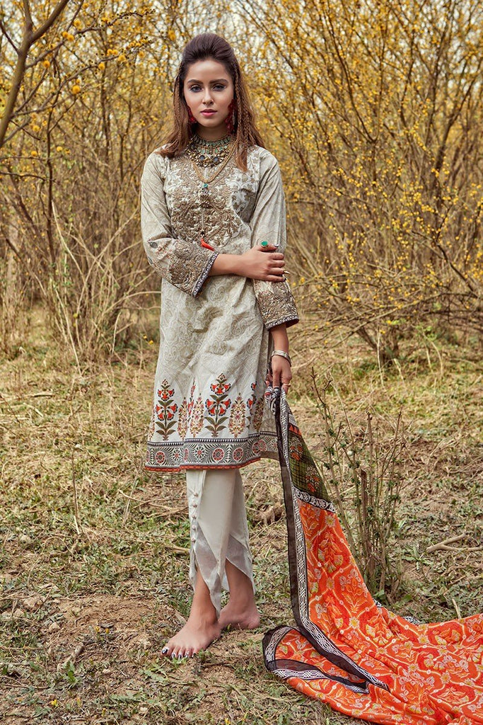 MARIA.B. MPrints Lawn Collection 2018 – MPT 203 A Cofee