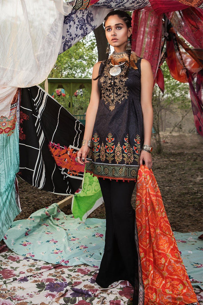 MARIA.B. MPrints Lawn Collection 2018 – MPT 203 B Black