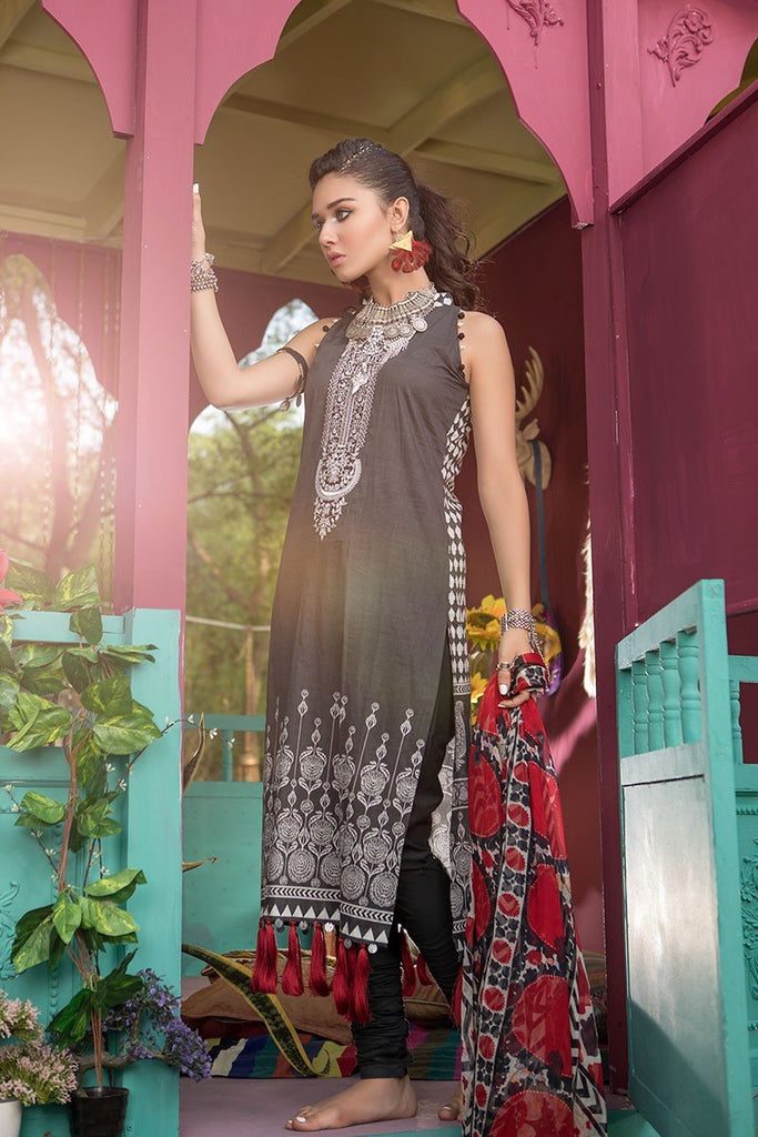 MARIA.B. MPrints Lawn Collection 2018 – MPT 204 A Black