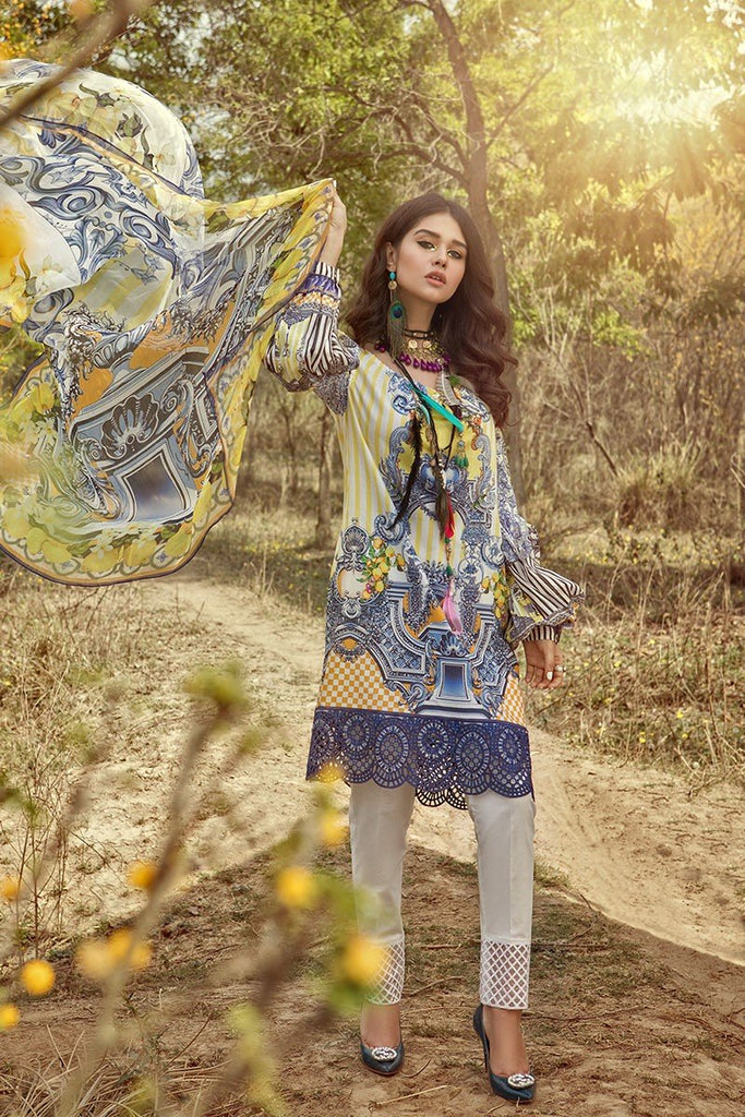 MARIA.B. MPrints Lawn Collection 2018 – MPT 206 A Yellow