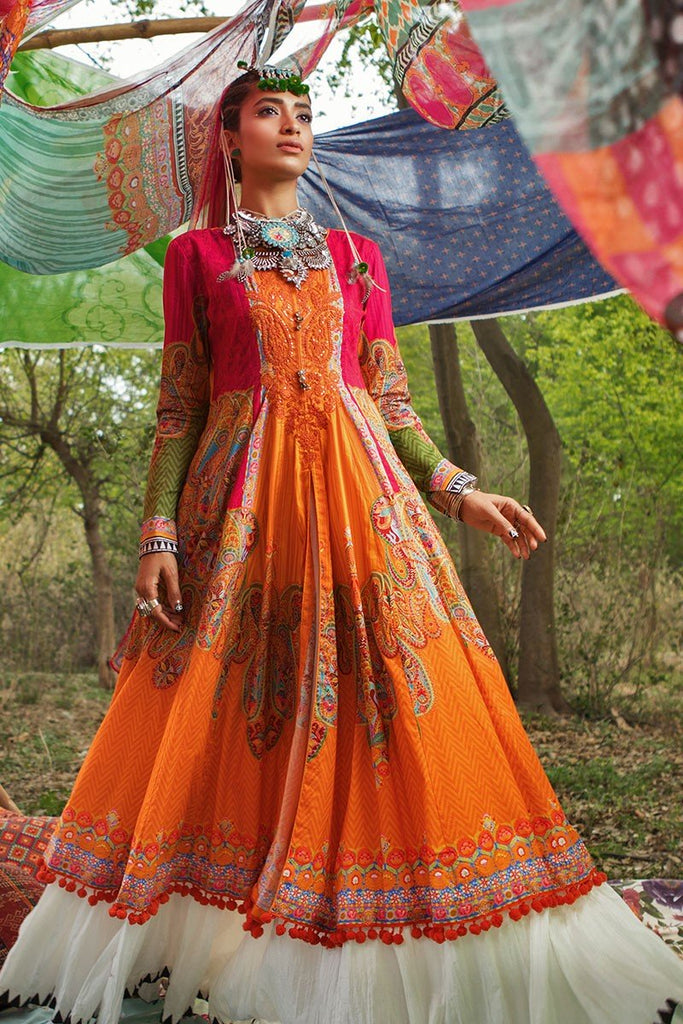 MARIA.B. MPrints Lawn Collection 2018 – MPT 208 A Orange