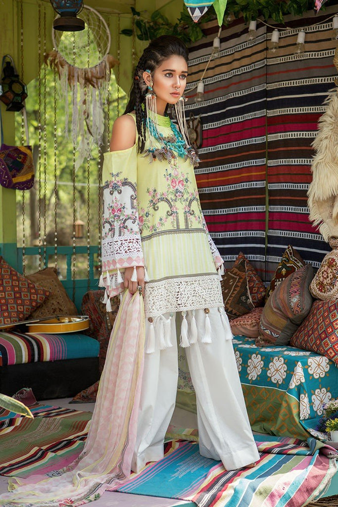MARIA.B. MPrints Lawn Collection 2018 – MPT 209 B Yellow