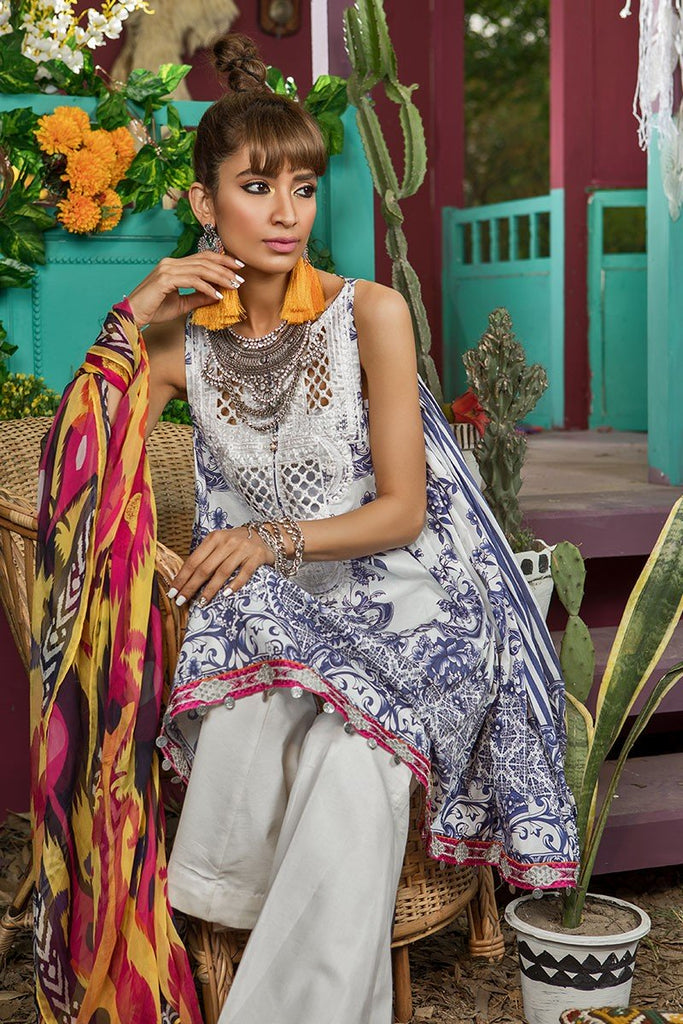 MARIA.B. MPrints Lawn Collection 2018 – MPT 210 A Blue