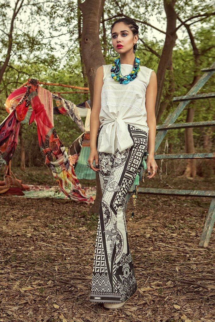 MARIA.B. MPrints Lawn Collection 2018 – MPT 211 B Black White