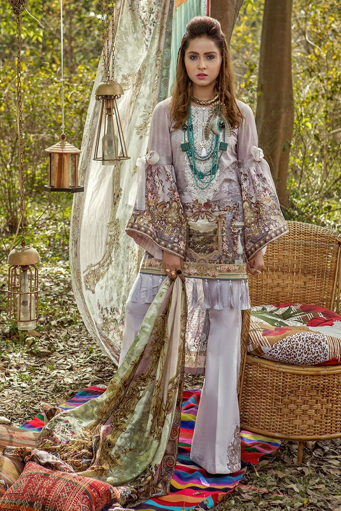 MARIA.B. MPrints Lawn Collection 2018 – MPT 213 A Pink
