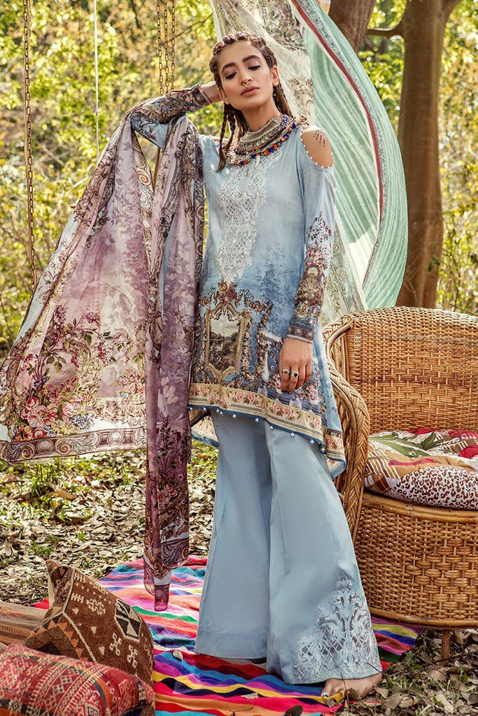 MARIA.B. MPrints Lawn Collection 2018 – MPT 213 B Blue
