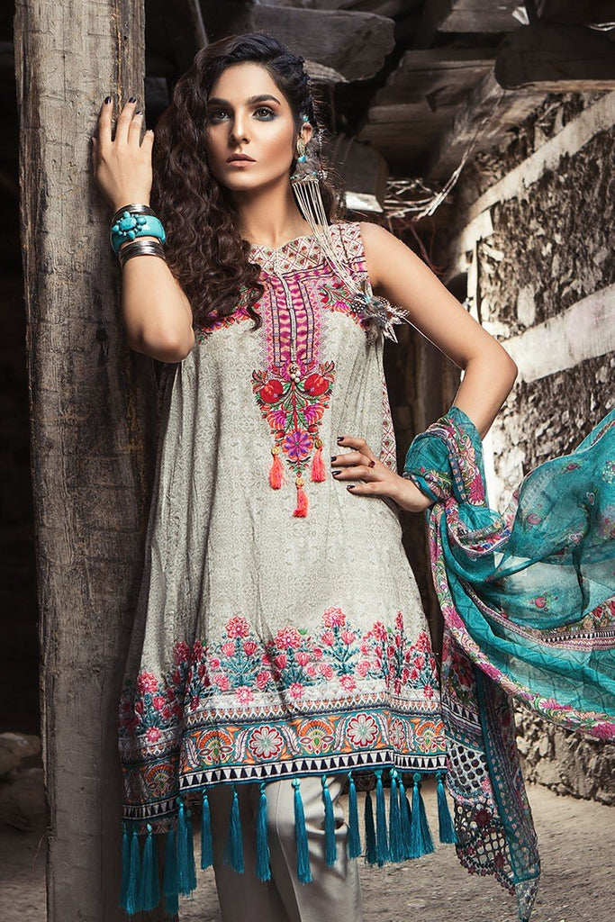 MARIA.B. Mprints Lawn Eid Collection 2018 – 302-A-Beige