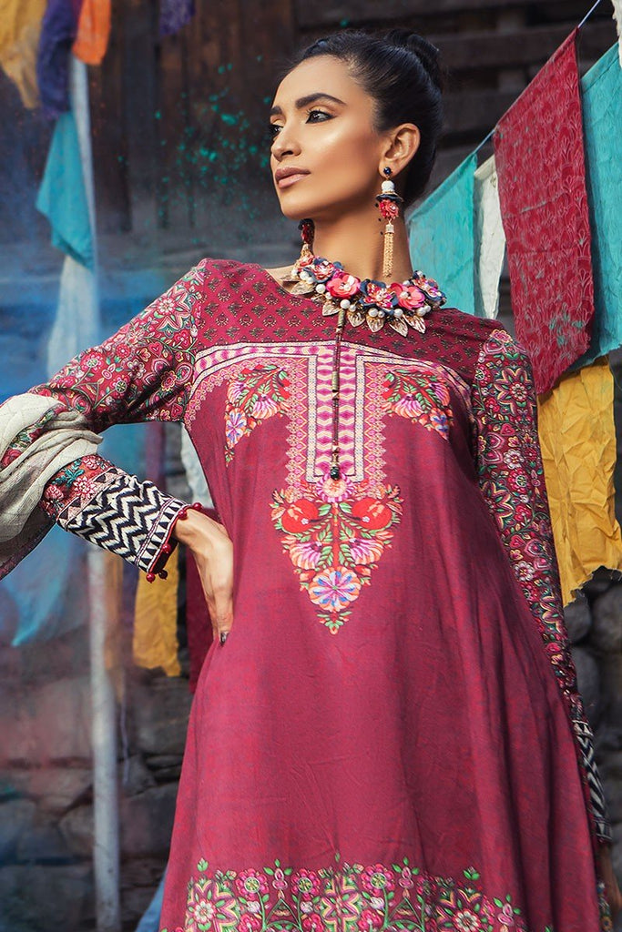 MARIA.B. Mprints Lawn Eid Collection 2018 – 302-B-Maroon