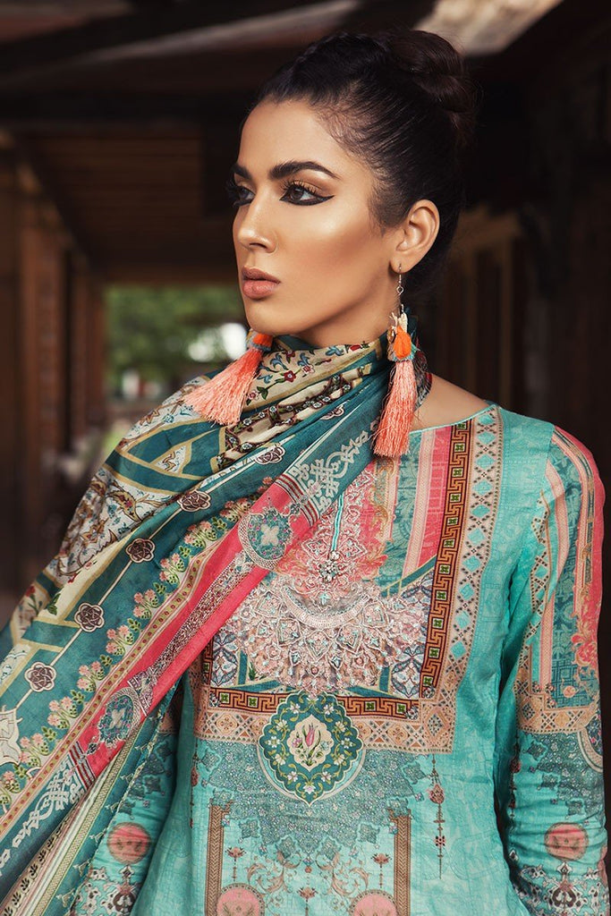 MARIA.B. Mprints Lawn Eid Collection 2018 – 303-B-Sea Green