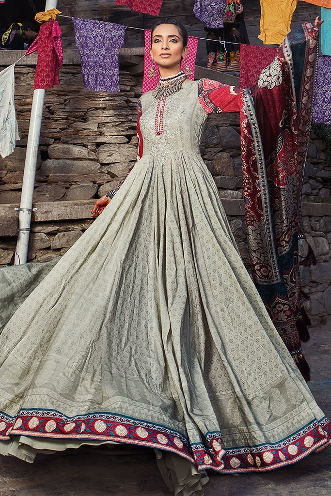 MARIA.B. Mprints Lawn Eid Collection 2018 – 305-A-Beige