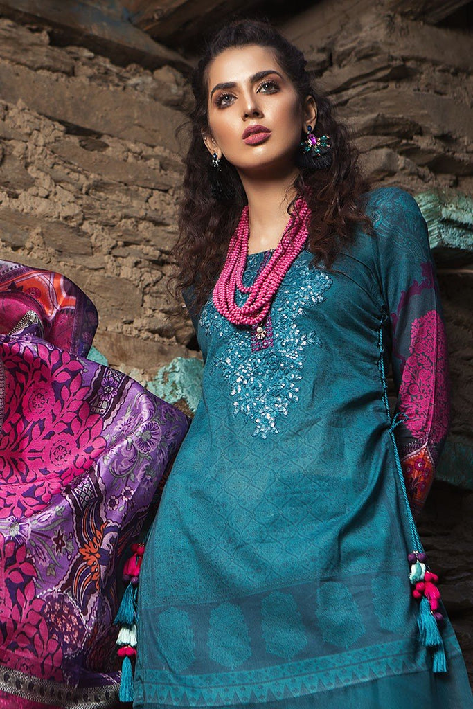 MARIA.B. Mprints Lawn Eid Collection 2018 – 305-B-Zinc