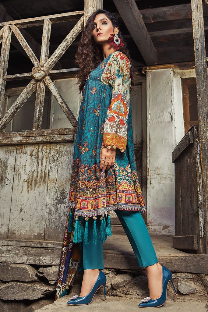 MARIA.B. Mprints Lawn Eid Collection 2018 – 307-A-Zinc