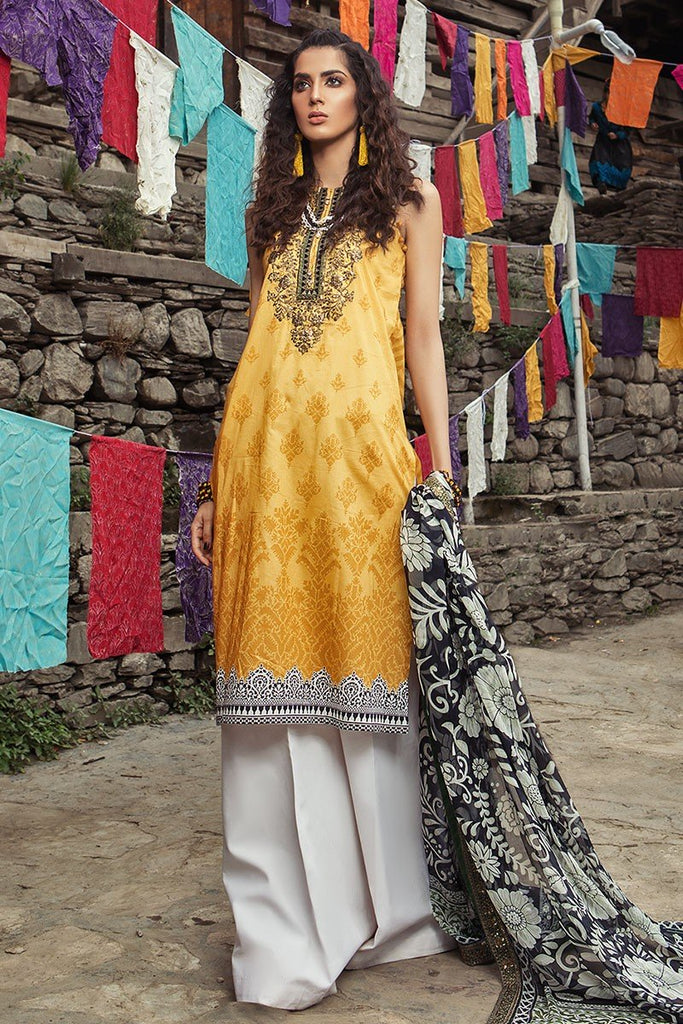 MARIA.B. Mprints Lawn Eid Collection 2018 – 308-B-Mustard