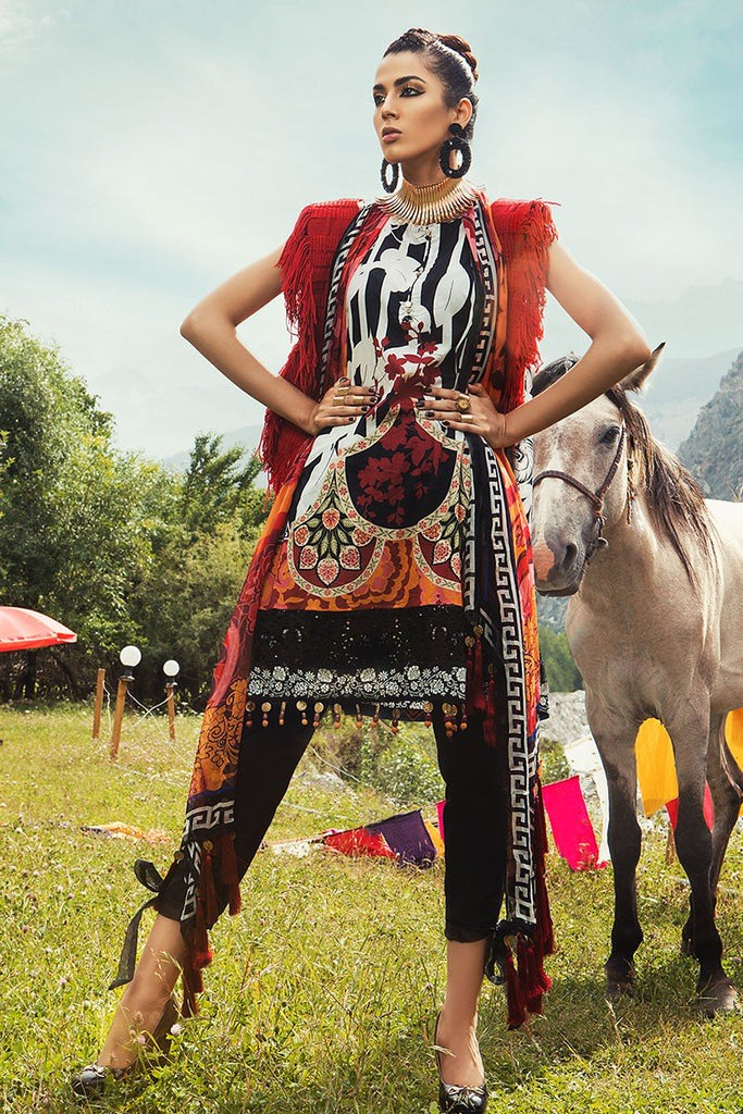 MARIA.B. Mprints Lawn Eid Collection – 309-A-Black