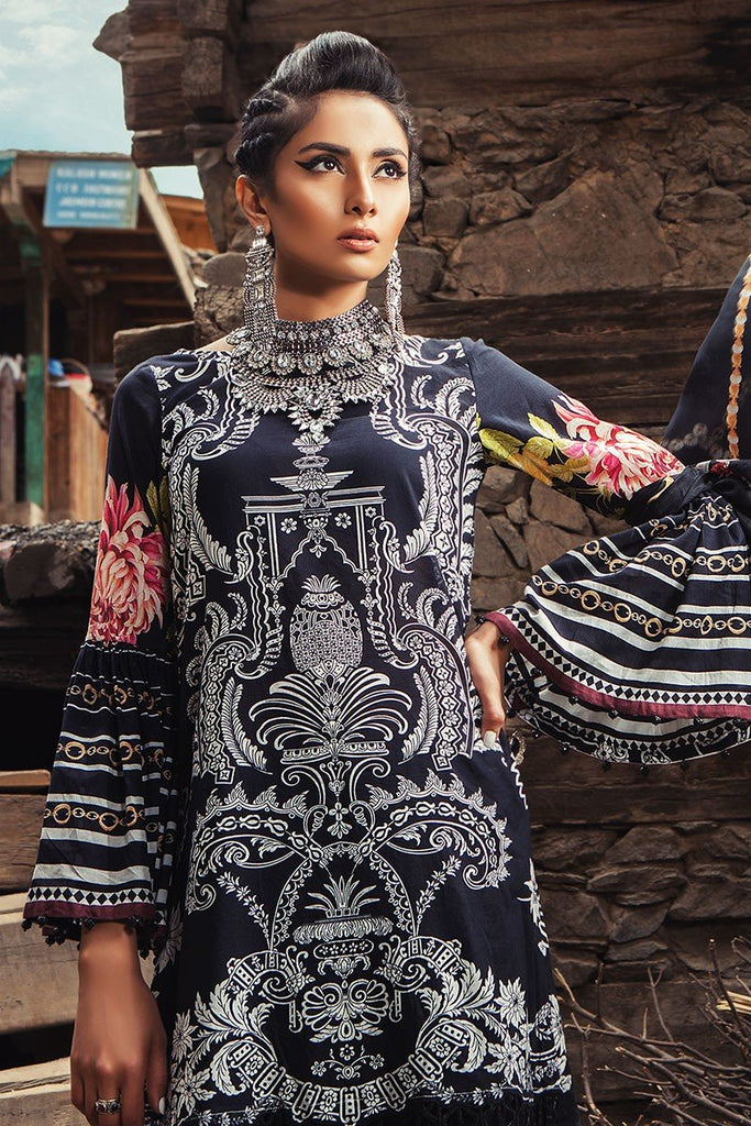 MARIA.B. Mprints Lawn Eid Collection 2018 – 310-A-Black
