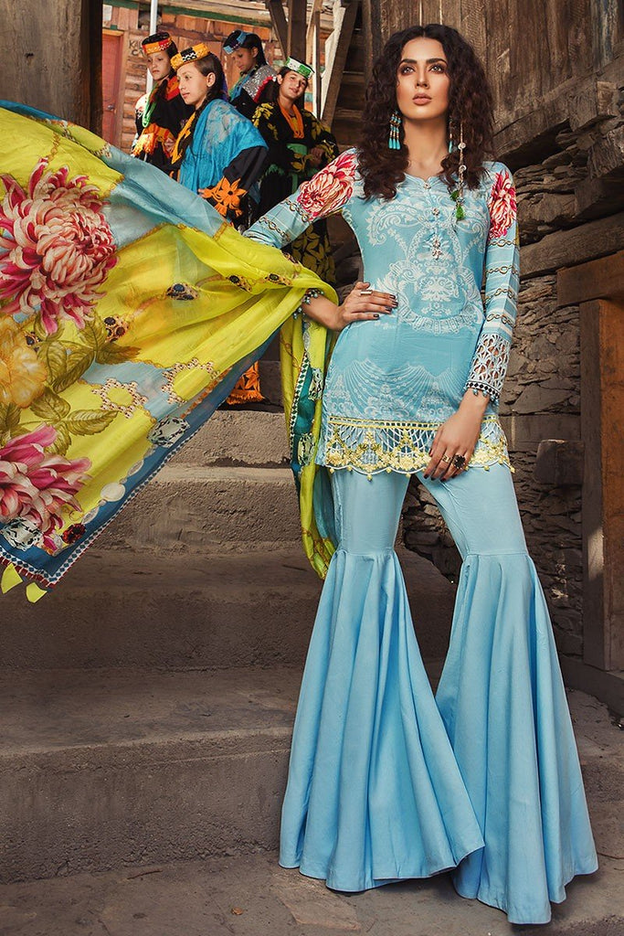 MARIA.B. Mprints Lawn Eid Collection 2018 – 310-B-Blue