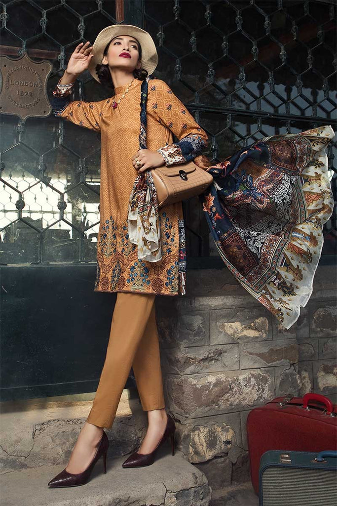 MARIA.B. M.Prints Winter Collection 2018 – MPT-404-A-Mustard