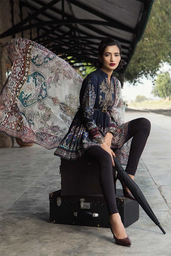 MARIA.B. M.Prints Winter Collection 2018 – MPT-406-A-Navy Blue