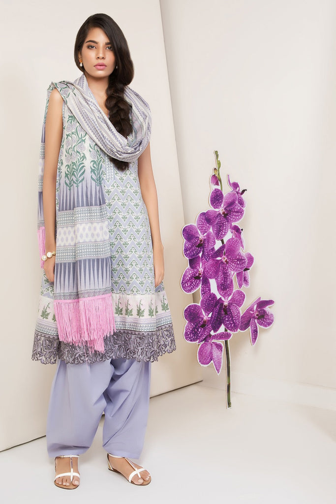 AlKaram Cambric Collection 2018 – 3 Piece Embroidered – MS-24.1-18-Purple