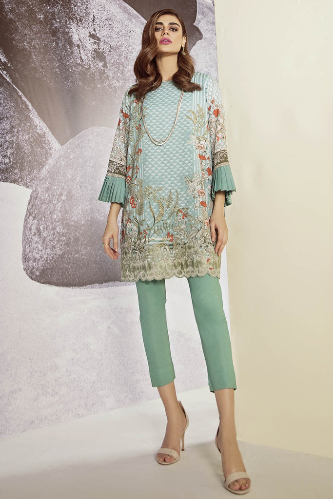 AlKaram Cambric Collection 2018 – 1 Piece Embroidered – MS-37-18-Green
