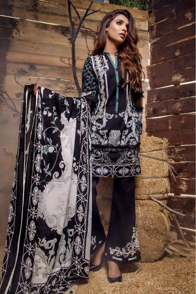 Firdous Noir - Limited Edition Lawn Collection – N01