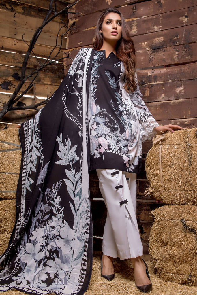 Firdous Noir - Limited Edition Lawn Collection – N07