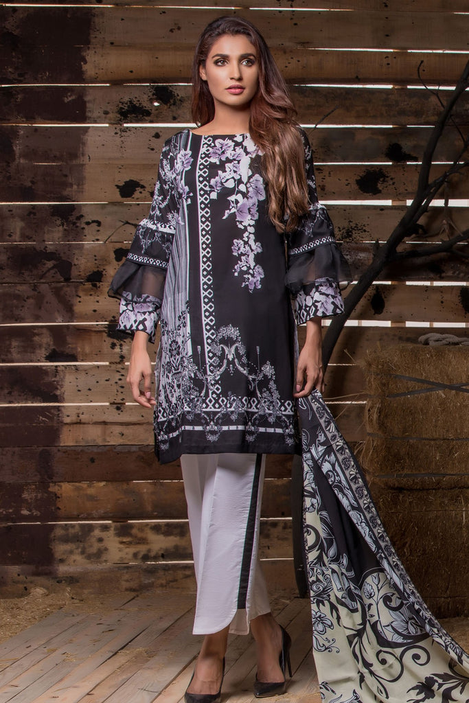 Firdous Noir - Limited Edition Lawn Collection – N08