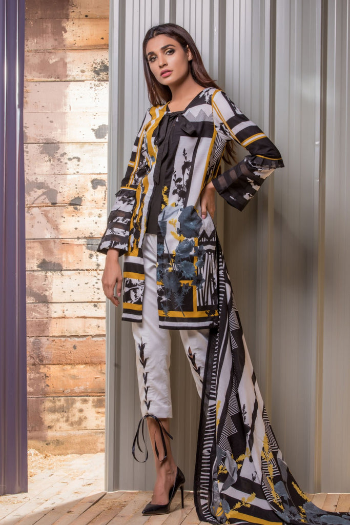 Firdous Noir - Limited Edition Lawn Collection – N10