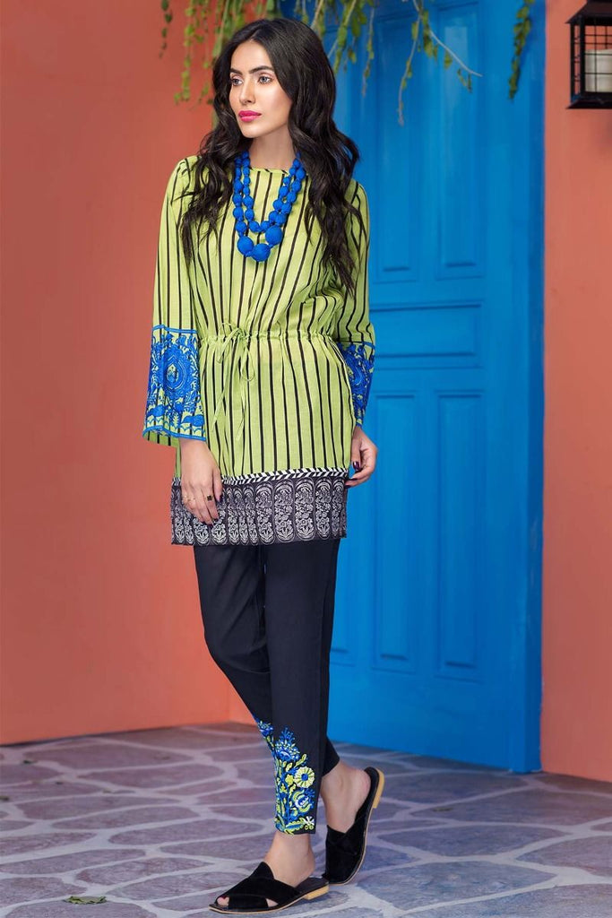 Khaadi Tropical Escape Lawn Collection 2018 – N18105 Green 2Pc