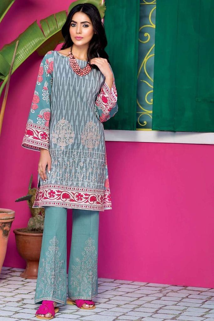 Khaadi Tropical Escape Lawn Collection 2018 – N18110 Blue 2Pc