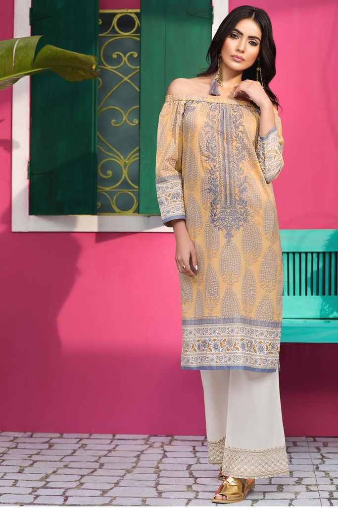 Khaadi Tropical Escape Lawn Collection 2018 – N18111 Grey 2Pc