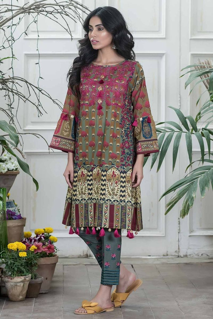 Khaadi Summer Lawn Collection 2018 Vol-2 – N18201 Green