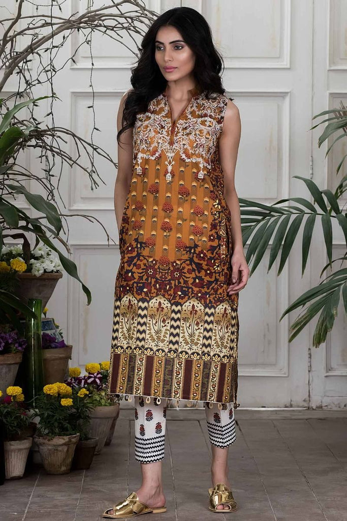 Khaadi Summer Lawn Collection 2018 Vol-2 – N18201 Mustard