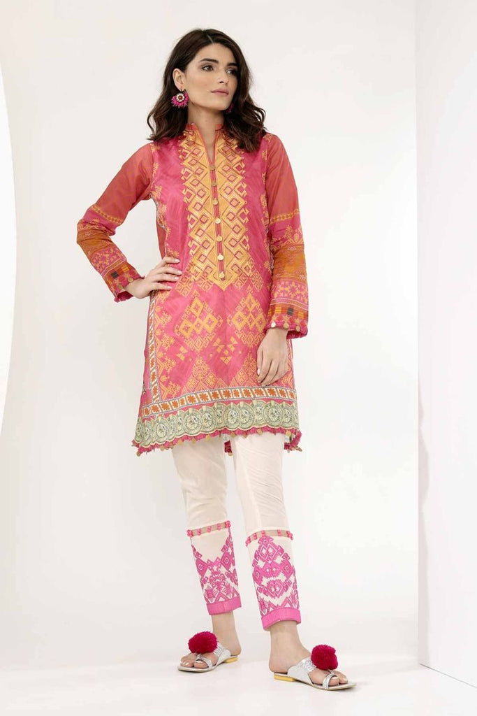 Khaadi Mid Summer Lawn Collection 2018 – N18305 Pink 2Pc