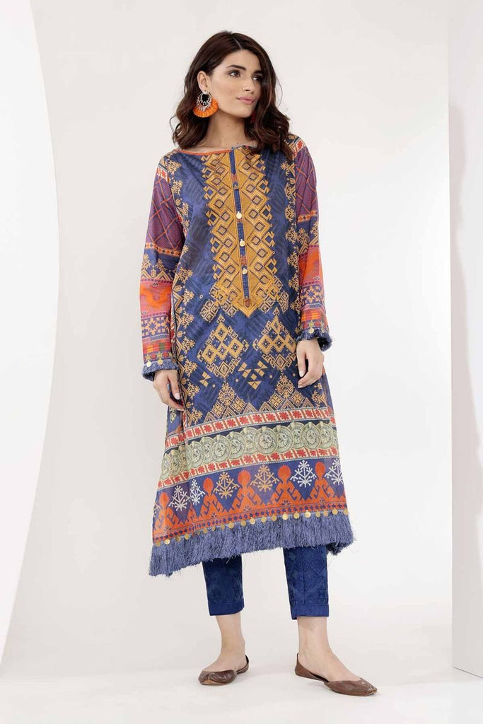 Khaadi Mid Summer Lawn Collection 2018 – N18305 Blue 2Pc